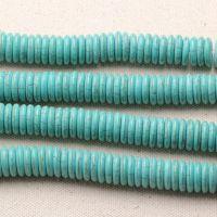 DIY水晶饰品配件 天然绿松石盘珠 算盘珠 散珠 半成品批发
