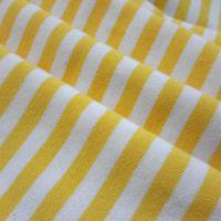 32支全棉细条纹氨纶汗布 色织条纹针织布 儿童T恤面料 高档打底衫
