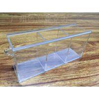 定制三格透明亚克力茶叶糖果盒