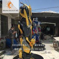 模型专家【上海升美】变形金刚4玻璃钢雕塑擎天柱机器人模型大黄蜂雕塑摆件展览