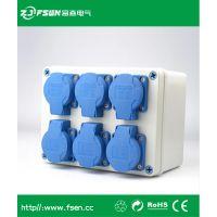 ZJ/FSen富森供应插座箱手提式配电箱 防水防尘工业电气电源箱