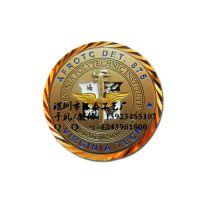 厂家定做纪念币 双色电镀铜立体纪念章