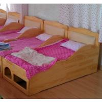 批发都江堰幼儿园午休床实木重叠床双人上下床