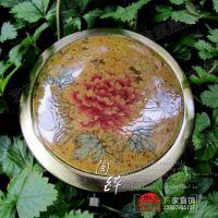 GAA18双面镜子 陶瓷镜子批发化妆 随身镜 陶瓷首饰饰品 复古牡丹
