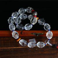 天然水晶精雕佛珠手链车挂礼品工艺品创意东海水晶十八罗汉避邪精