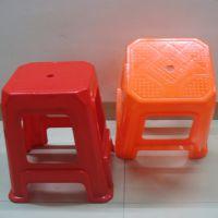 厂家批发塑料条纹家用椅子 防滑浴室方凳 板凳  高凳 加厚餐桌凳