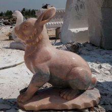 销售十二生肖雕刻晚霞红石雕兔石雕龙石雕蛇厂家定做整套优惠