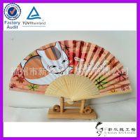 福州诚信商家 欢迎批量定做竹质工艺扇 精美动漫图案日本扇