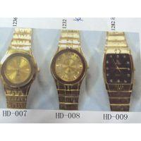 双日历中东手表 雕刻花纹金属手表 时尚女装防水手表 环保手表