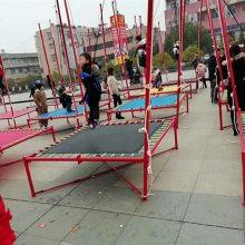 郑州心悦游乐设备厂钢架蹦极-易拆装的儿童小蹦极跳跳床批发价格