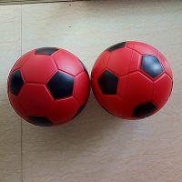 兴宏发定制PU发泡足球 多色喷线200MM双色球 大尺寸环保玩具