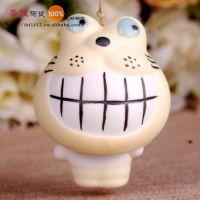 陶瓷风铃 陶瓷挂件 景德镇手工饰品 两节款风铃 彩色加菲猫 新款
