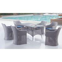 户外家具庭院藤编桌椅组合休闲藤椅子室外阳台花园PE藤洽谈餐桌椅