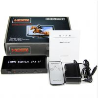 HDMI3进1出切换器 三进一出 1080P 高清HDMI分配器HDMI接 中性