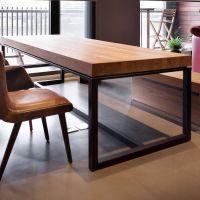 美式乡村复古做旧实木铁艺餐桌饭桌酒吧桌办公桌酒店桌长方形
