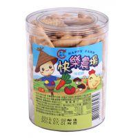 台湾进口 品味本铺快乐农场牛奶饼130gX12罐/箱 宝宝儿童食品批发