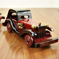 8寸复古老爷车木质汽车模型礼品工艺品送礼赠品