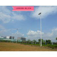 福建足球场12米灯杆加工厂 镀锌锥形篮球场高杆灯厂家批发 1000W亚明灯光源达到五星级