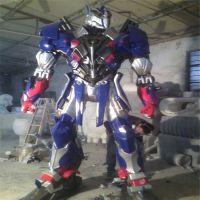 大型机器人玻璃钢雕塑,变形金刚侠雕塑,仿真动漫人物雕塑