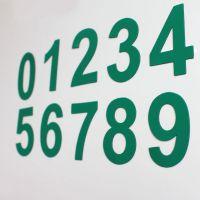 数字磁性贴 磁贴冰箱贴彩色红黄蓝绿橙教学办公磁性数字号码磁贴