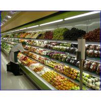超市蔬果区保鲜展示柜,串串火锅店菜品冷藏柜,阳江定做麻辣烫风幕柜