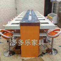 深圳连锁海鲜自助旋转小火锅回转设备 中式大理石回转设备深多多乐家具定制