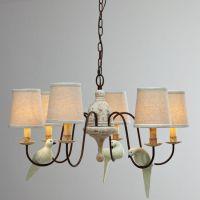 地中海小鸟餐厅吊灯温馨布罩灯简约复古餐桌灯田园宜家卧室灯饰