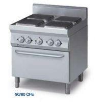 意大利无敌牌MODULAR 90/80CFE 高效能四头电炉连对衡式电烤炉