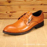 新款时尚男士商务休闲鞋英伦男鞋真皮皮鞋批发男式休闲鞋牛皮男鞋