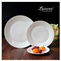 出口外贸尾单陶瓷西式纯白色西餐圆盘新骨瓷三尺寸盘子套装批发
