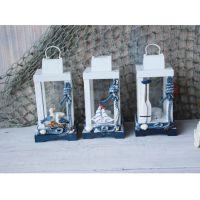 小号风灯灯塔 欧式地中海风格木质做旧灯塔家居装饰品 家饰工艺品