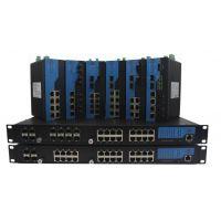 深圳讯记CK7080S/CK6080S型号10口8FE 2GE系列导轨式管理型POE工业以太网交换机