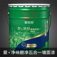 佛山优质内墙乳胶漆价格,数码彩18L爱+净味醛净五合一墙面漆DE36F