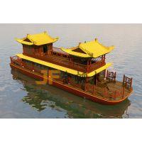 江苏金帆木业供应中式仿古电动观光船 画舫餐饮船定制 木船出售