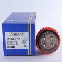 厂家供应 电源插头 SP-56P432 四插户外防水插头 32A工业插头