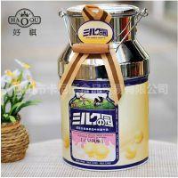 台湾原装进口 好祺系列-北海道牛奶糖牛乳球桶装礼盒308g  批发
