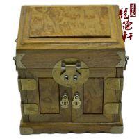 金丝楠木料官皮箱复古首饰盒实木质带锁饰品盒子摆件收藏生日礼物