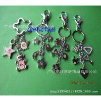滴胶合金钥匙扣 创意金属钥匙扣 串串系列包钥匙挂件