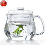 【加工定制】耐热玻璃泡茶壶 三件式花茶壶批发 带玻璃内胆过滤