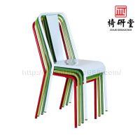 餐椅铁艺法式铁皮椅咖啡餐厅座椅欧式复古做旧工业椅简约金属椅子