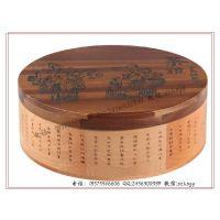 【工厂订做】圆形普洱茶饼包装盒 普洱茶木盒包装 木制普洱茶盒