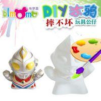摔不坏彩绘石膏娃娃 涂鸦公仔玩具DIY白模手绘奥特曼玩偶YX-D109