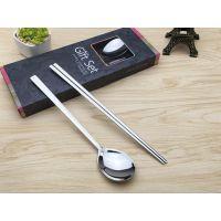 韩式勺筷 不锈钢礼品餐具套装 牛排餐具套装 不锈钢刀叉定制