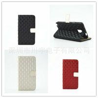 新款纯手工编织商务iphone6手机保护套左右开皮套苹果6手机套厂家