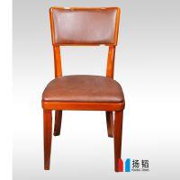 深圳扬韬厂家生产 现代风格 白色PU皮餐椅 简约无扶手餐椅