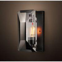现代新中式壁灯 玄关现代中式铁艺壁灯 过道中式壁灯厂家