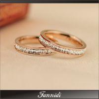 代发 版尹恩惠同款镀18K玫瑰金满钻戒指女指环欧美潮人礼物