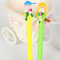 新款  日韩文具可爱卡通软陶圆珠笔 办公用品软陶笔创意圆珠笔