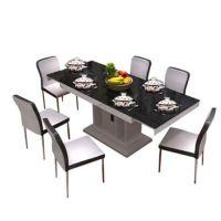 海德利厂家直销塑料桌椅价格电磁炉火锅桌厂专业定做顾家餐桌餐椅型号批发代理 电脑桌椅图片