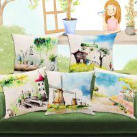 众帛数码印花厂厂家定制棉麻创意沙发靠枕 汽车办公室靠垫 布艺抱枕 批发亚麻